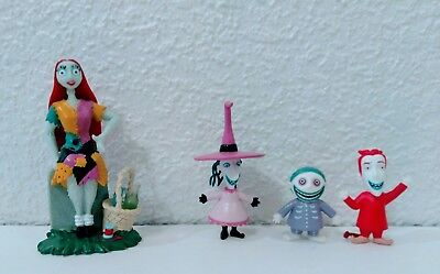 Disney Nightmare Before Christmas PVC Figures Sally Lot of 4 Loose