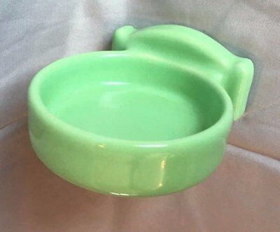 Vtg Ceramic Jadeite Green Porcelain Wall Mount Cup Holder Old Bathroom 151-17J