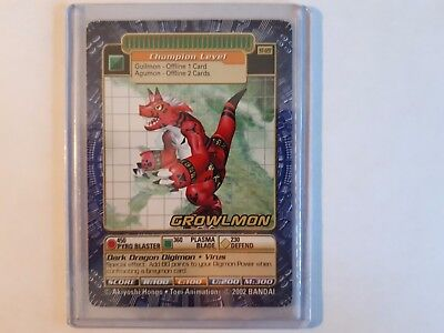 Digimon Card Growlmon ST-128 NM