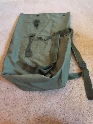 1990s US MILITARY Issue Large Nylon Army Backpack Duffle Bag