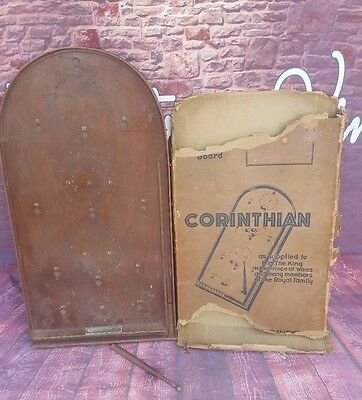 Vintage Boxed Corinthian Pinball Bagatelle Pub Traditional Wooden Game Bar Toys