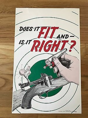 National Rifle Association 1946 Poster,  DOES IT FIT AND IS IT RIGHT?