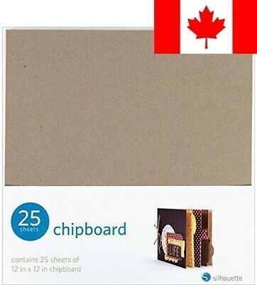 Silhouette Of America Chipboard, 12 by 12-Inch, 25-Pack