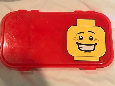Lego Red Minifigure Storage Box Case FREE SHIPPING 499307