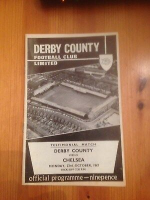 1967 RALPH HANN & JACK PARRY TESTIMONIAL MATCH -DERBY COUNTY v CHELSEA  23rd Oct