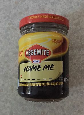 "Vegemite Kraft ""NAME ME "" Unopened 145g Net Jar"