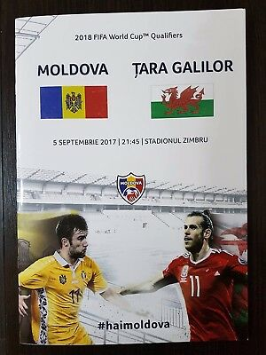 MOLDOVA WALES 5 September 2017 Q WC-2018 RARE OFFICIAL programm LOW PRICE