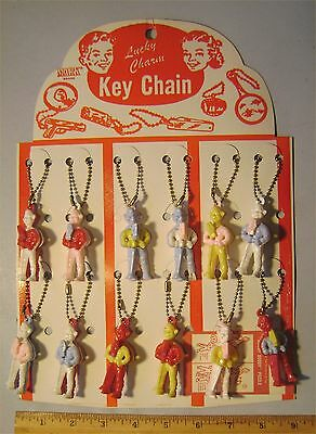 Lot of 12 Howdy Doody Marked NBC - Puzzle Key Chains On Original Card - As Is