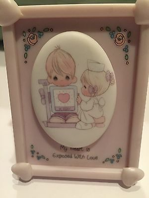 Precious Moments Enesco Miniature Porcelain Frame My Heart Is Exposed With Love