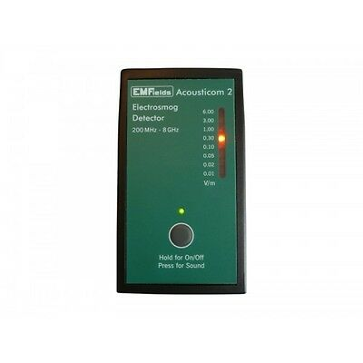 New Acousticom 2 Rf Meter Radio Frequency Microwave Small Meter Emf Protection