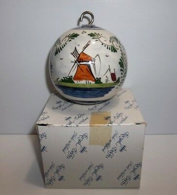 Vintage Royal DELFT Christmas Tree Ornament Windmill SIGNED MIB