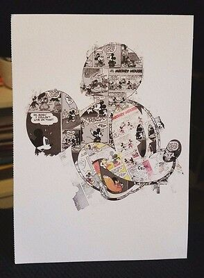 Disney Visa Rewards Mickey Mouse Cartoon Strip Collage Promo Postcard