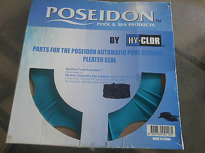 New POSEIDON Hy-Chlor Pool Cleaner Pleated Seal Skirt, Flapper, and Pad