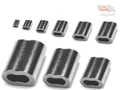 Nickel Plated Copper Swages Crimps Ferrule for Stainless Steel Wire Rope Swaging