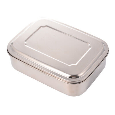 Stainless Steel Picnic Lunch Box Bento Food Container School Office Portable *US
