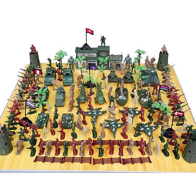 Boys Kids Military Soldiers Toy Kit Army Men Figures Accessory Model Play set
