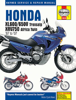 Haynes Honda Xl650V Transalp 2000-2007 Haynes Service Manual Workshop Manual