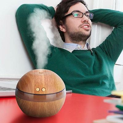Essential Oil Aroma Diffuser Ultrasonic Humidifier Air Mist Aromatherapy Gray UP