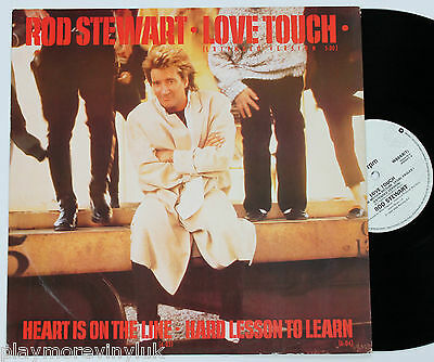 "ROD STEWART Love Touch (ext) 12"" vinyl UK 1986 Warners W8668T EXcond!"