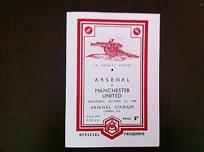 1940s Charity Shield Arsenal v Manchester United 1948