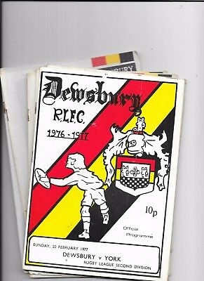 49 x Various Dewsbury Home & Away Rugby League Programmes Listed