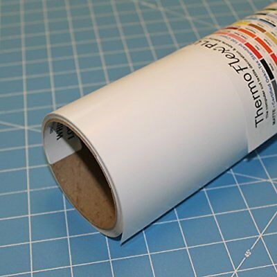 "ThermoFlex Plus 15"" x 5' Roll White Heat Transfer Vinyl"