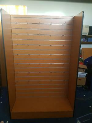 Retail Shop Fittings Wooden Doublesided Display - Hangsell or Shelves