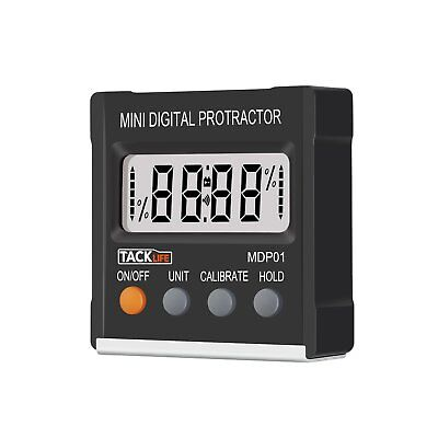 Tacklife MDP01 Classic Digital Angle Gauge Level / Protractor / Angle Finder