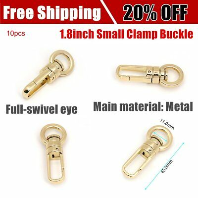 10pcs/lot Handbags Snap Hook 1.8inch Small Clamp Buckle Fastener Bag Hanger GT