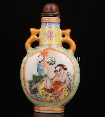 Porcelain Snuff Bottle Men Women Handicraft Gift Painting Collectable