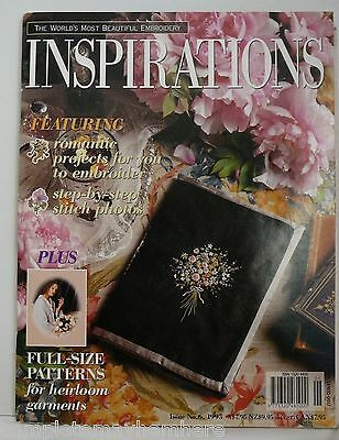 Inspirations Magazine No. 6 1995 Romantic Projects, Stitch Photos, Heirlooms