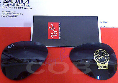 Ray Ban 3025 aviator Large Lenti Ricambio  g15 Greygreen  62 Replacement Lenses