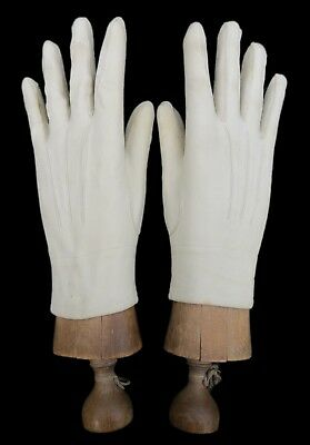 Victorian Officer's White Doeskin Leather Full Dress Gloves - Attributed