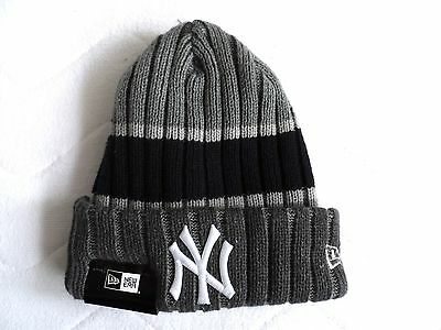 New Era NEW YORK YANKEES Grey Navy BEANIE TUQUE Hat Baseball MLB USA COMFY Tags
