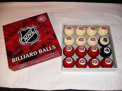 Hard To Find New In Open Box Montreal Canadiens Nhl Pool Billiard Balls Jersey !