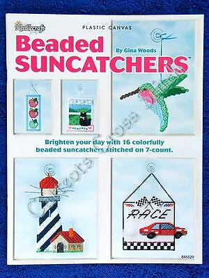 Plastic Canvas Pattern Beaded Suncatchers Angel Bird Lighthouse Cross