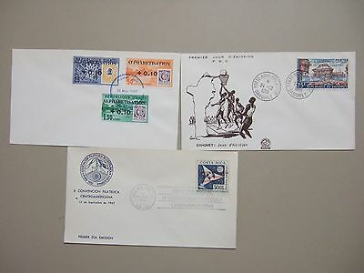 Three fdc with OVERPRINT stamps