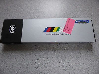 Boxed Pair of QR Ritchey Titanium MTB Skewers 82gms pair Forged Alloy Lever
