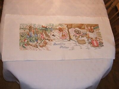 Beatrix Potter Completed Cross Stitch