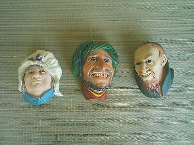 Vintage Bossons Heads lot of 3 1964.