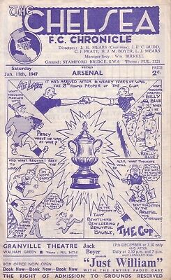CHELSEA v ARSENAL 1946/47 FA CUP 3RD ROUND