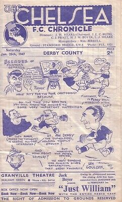 CHELSEA v DERBY 1946/47 FA CUP 4TH ROUND