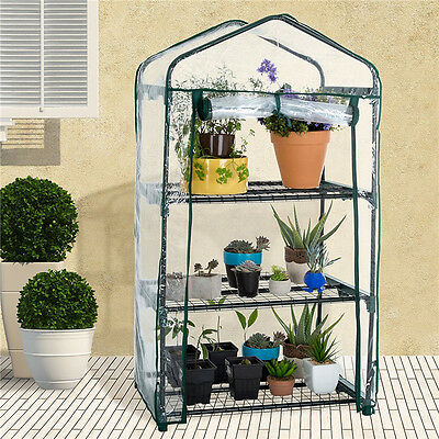 Greenhouse Mini Outdoor Growbag Growhouse Green House PVC Cover Plastic Garden