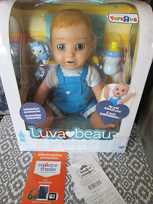 Luvabella LUVABEAU Interactive Blonde Boy Baby Doll Luva Beau Gift Recpt IN HAND