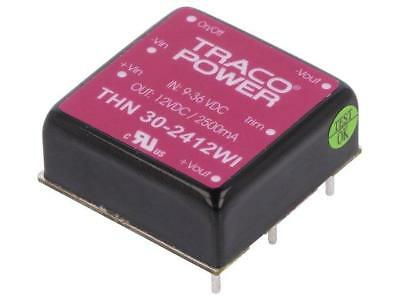 """THN30-2412WI Converter DC/DC 30W Uin9÷36V 12VDC Iout2500mA 1""""x1"""" TRACO POWER"""