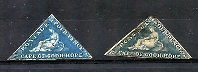 Cape Of Good Hope 1853 ***** 2 Used Stamps