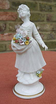 "Marcolin Capodimonte ""Girl with Flowers"" Figurine"