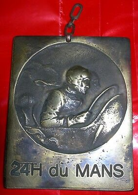Rare Finaliste Medal / Plaque For The 24 Hour Le Mans Race 21 June 1959