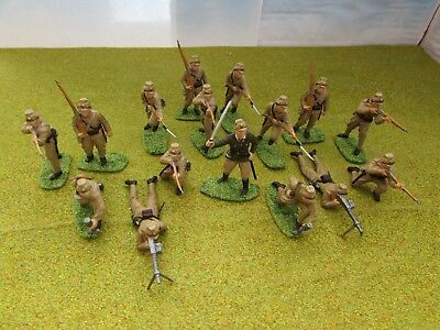 19 x 1/32 54mm WW2 Japanese Infantry Painted