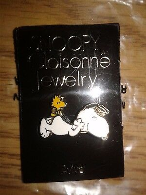 Vintage Aviva Snoopy and Woodstock Lounging Pin